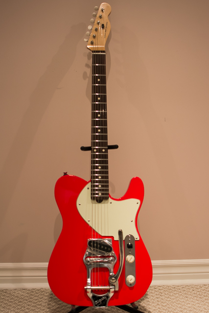 Red Esquire with Bigsby